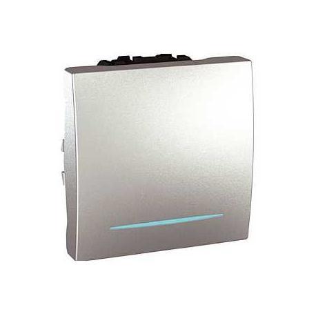 Va-et-vient lumineux (localisation) Unica - Bornes à vis - Aluminium - 2 modules