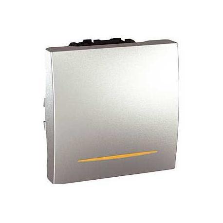 Va-et-vient lumineux (témoin) Unica - Bornes à vis - Aluminium - 2 modules