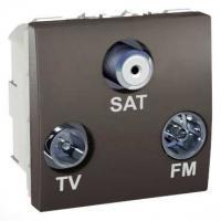 Prise TV / FM / SAT Unica - 1 entrée - Graphite
