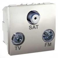 Prise TV / FM / SAT Unica - 1 entrée - Aluminium