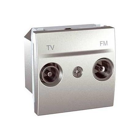 Prise TV / FM Unica - Aluminium