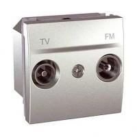 Prise TV / FM Unica - Fin de ligne - Aluminium