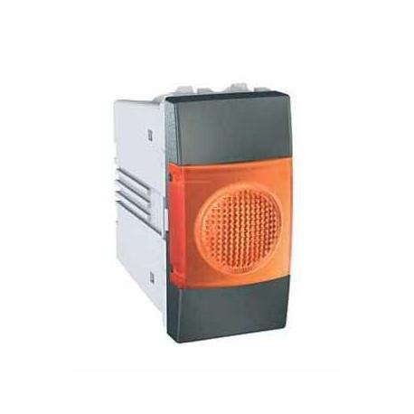 Voyant lumineux orange Unica - Graphite - 220 V CA