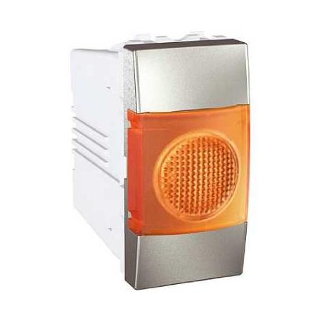 Voyant lumineux orange Unica - Aluminium - 220 V CA
