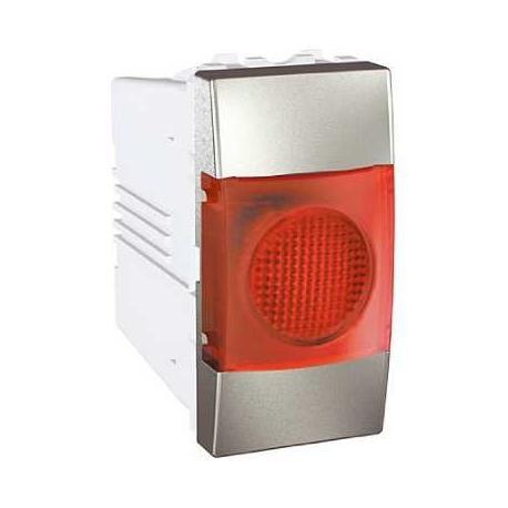 Voyant lumineux rouge Unica - Aluminium - 220 V CA
