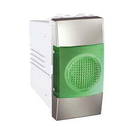 Voyant lumineux vert Unica - Aluminium - 220 V CA