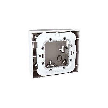 Boîte pour montage en saillie Unica - Blanc - 2 modules