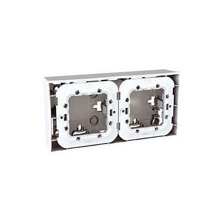 Lot de 4 - Boîte pour montage en saillie Unica - Blanc - 2x2 modules