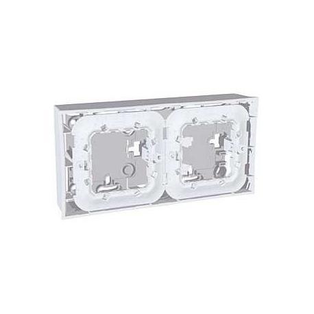 Boîte pour montage en saillie Unica - Gris clair - 2x2 modules
