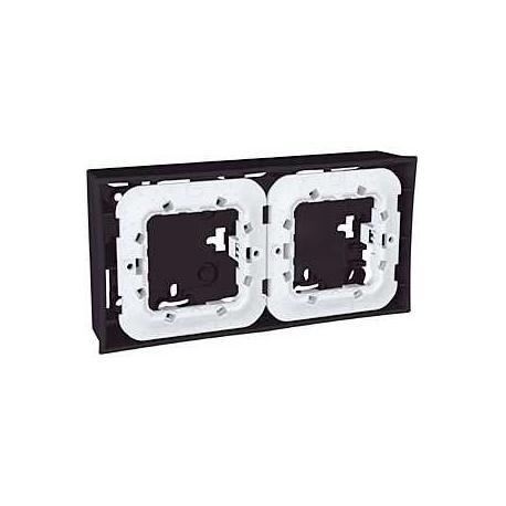 Boîte pour montage en saillie Unica - Gris foncé - 2x2 modules