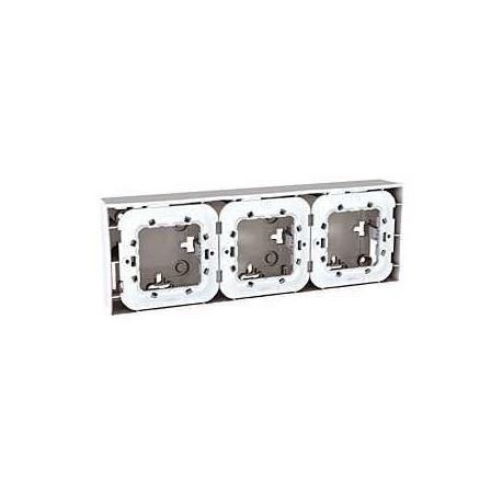 Lot de 2 - Boîte pour montage en saillie Unica - Blanc - 3x2 modules