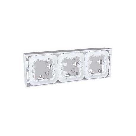 Boîte pour montage en saillie Unica - Gris clair - 3x2 modules