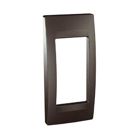 Plaque de finition Unica Top Graphite - 1 poste - 1 module