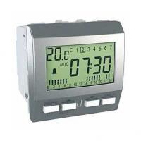 Réveil Unica - 230 V CA - 9 alarmes programmables - Aluminium