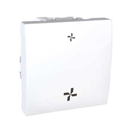 schneider interrupteur vmc unica 2 vitesses sans position arr t blanc. Black Bedroom Furniture Sets. Home Design Ideas