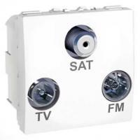 Prise TV / FM / SAT Unica - 1 entrée - Blanc