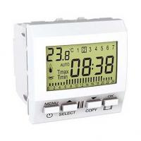 Thermostat programmable hebdomadaire Unica - Blanc