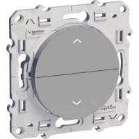 Poussoirs pour volets roulants Odace - Aluminium - 2 boutons montée/descente