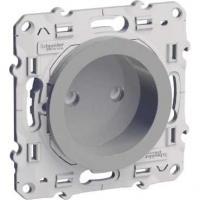 Prise de courant 2P Odace - Aluminium - Bornes à vis