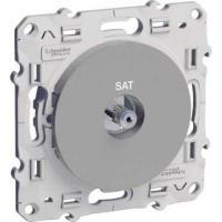 Prise SAT Aluminium - Odace