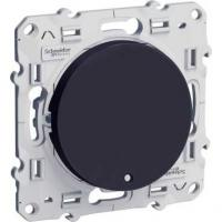 Poussoir lumineux Odace - Anthracite - LED bleu 0,15 mA localisation
