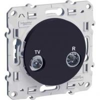 Prise TV / FM Odace - Anthracite - individuel