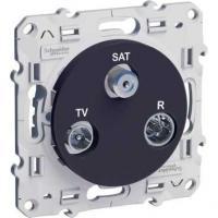 Prise TV / FM / SAT Odace - Anthracite - 1 entrée