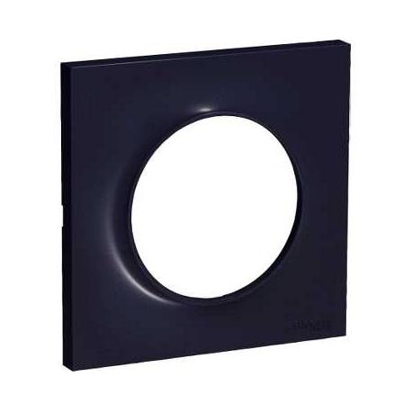 Plaque de finition anthracite 1 poste odace schneider - Plaque de finition ...