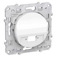 Prise fibre optique 1 sortie (simplex) Blanc - Odace