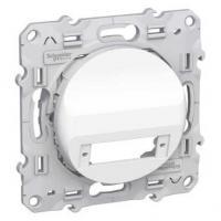 Prise fibre optique 2 sorties (duplex) Blanc - Odace