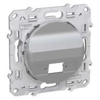 Prise fibre optique 1 sortie (simplex) Aluminium - Odace