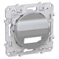 Prise fibre optique 2 sorties (duplex) Aluminium - Odace