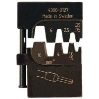 Matrice de sertissage - Pour embouts de câblage isolés et non isolés - Section 0,25-10 mm²