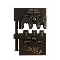 Matrice de sertissage - Pour clips mâles et femelles non isolés - Section 0,5-6 mm²