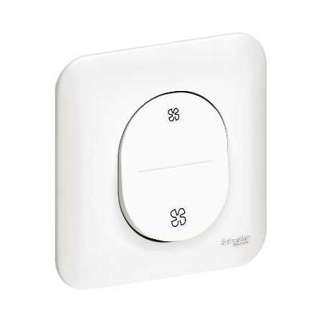 interrupteur schneider ovalis blanc a vis complet s260233. Black Bedroom Furniture Sets. Home Design Ideas