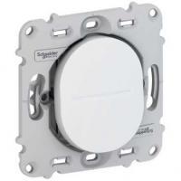 Interrupteur simple allumage - Blanc - A vis - Ovalis