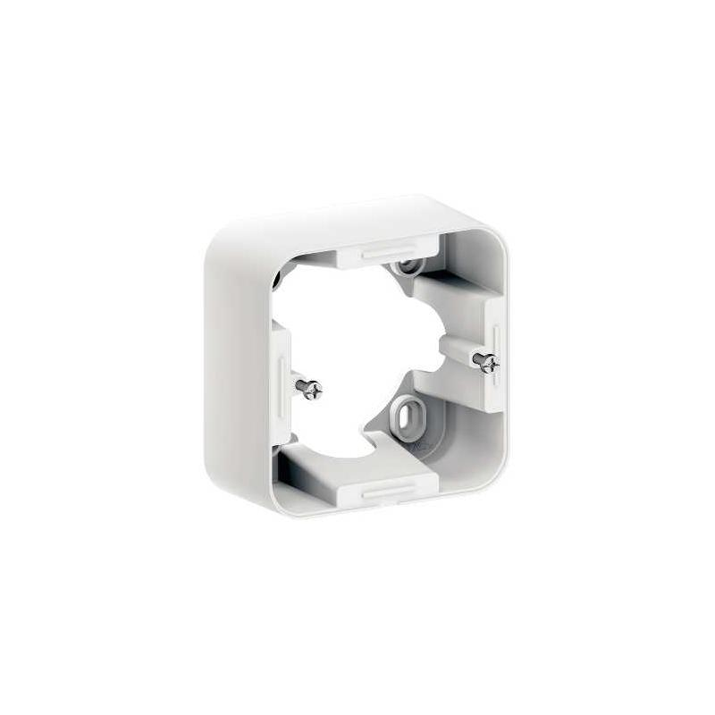 bo te pour montage en saillie schneider ovalis blanc s260762. Black Bedroom Furniture Sets. Home Design Ideas