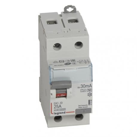 Interrupteur différentiel 25 A - Type F - 2P - 30 mA - Vis/vis - Haut/bas - DX³-ID
