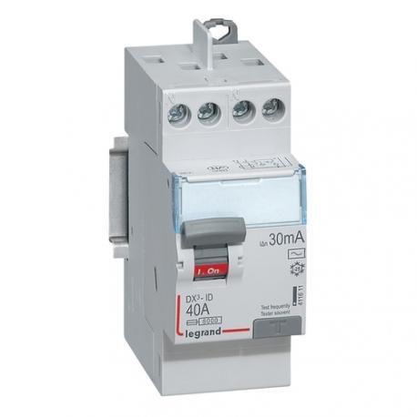 Interrupteur différentiel tête de groupe 40 A - Type AC - 2P - 30 mA - Vis/vis - Haut/haut - DX³-ID