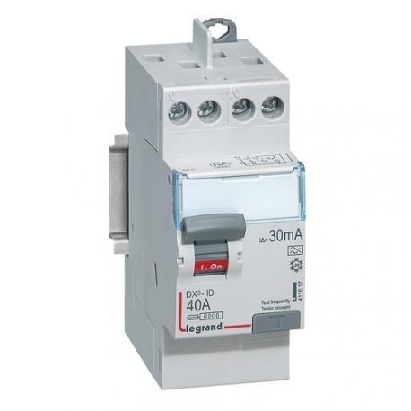 Interrupteur différentiel tête de groupe 40 A - Type A - 2P - 30 mA - Vis/vis - Haut/haut - DX³-ID