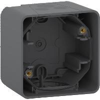 Boîte Mureva Styl 1 poste pour montage en saillie - Gris - IP55 IK08