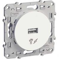 Prise alimentation USB - Blanc - 5V - Odace