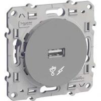 Prise alimentation USB - Aluminium - 5V - Odace