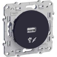 Prise alimentation USB - Anthracite - 5V - Odace