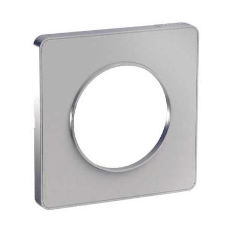 Plaque Odace Touch - Aluminium liseré alu - 1 poste