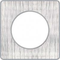 Plaque Odace Touch - Aluminium brossé croco liseré alu - 1 poste