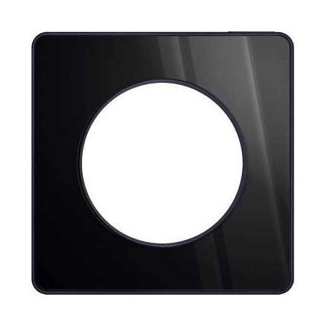 Plaque Odace Touch - Aluminium brillant fumé liseré anthracite - 1 poste