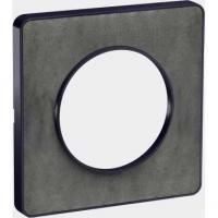 Plaque Odace Touch - Ardoise liseré anthracite - 1 poste