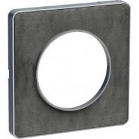 Plaque Odace Touch - Ardoise liseré alu - 1 poste