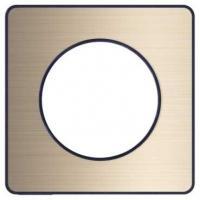 Plaque Odace Touch - Bronze brossé liseré anthracite - 1 poste
